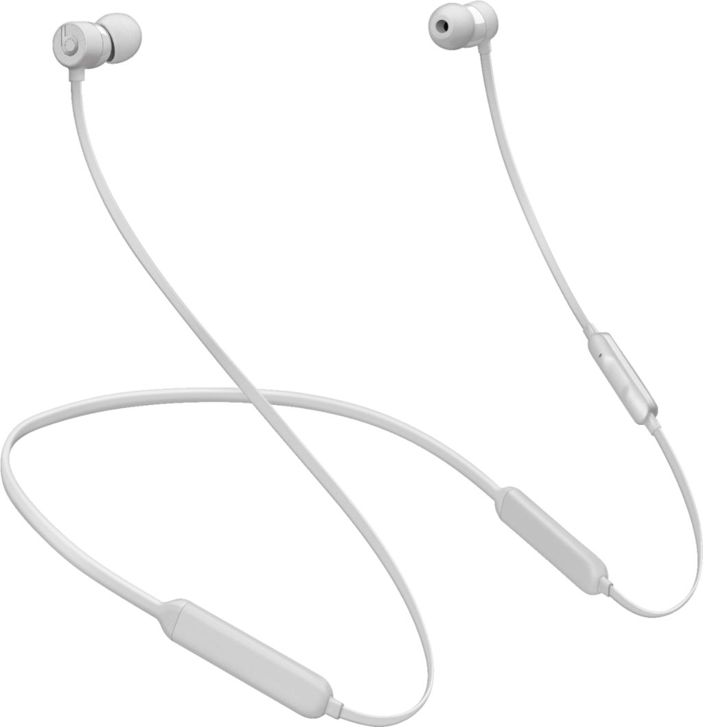 white beatsX headphones