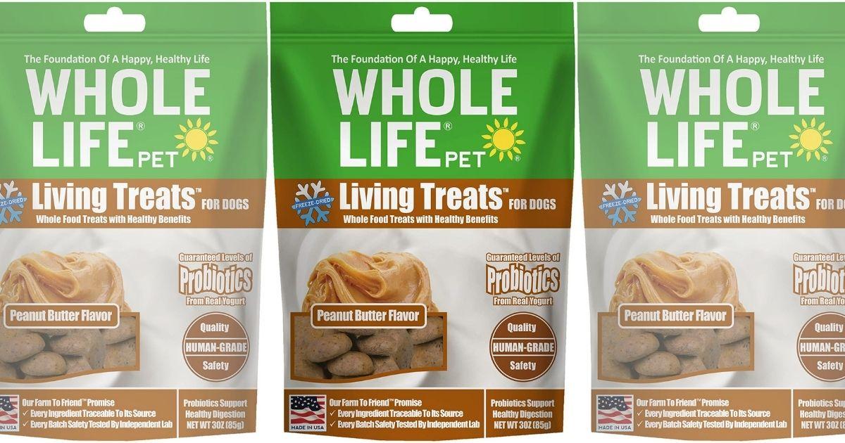 whole life pet treats peanut butter flavor