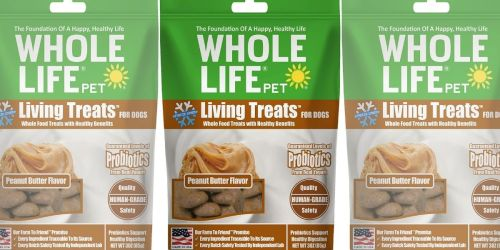 Whole Life Dog Treats as Low as $1.57 on Chewy.com (Regularly $9)