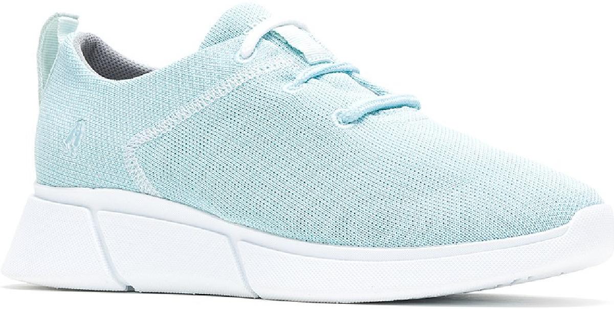 light blue shoe on white background