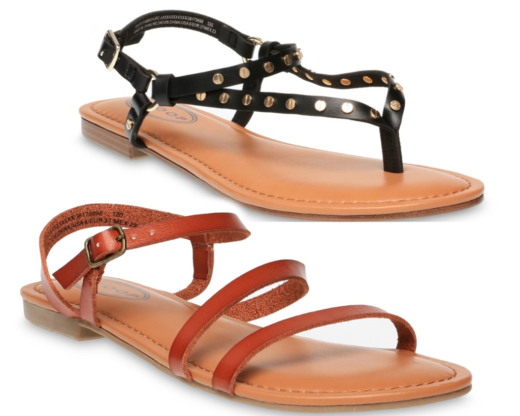 womens sandals two pair from walmart