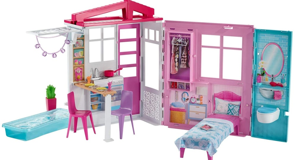 rumah boneka barbie lipat