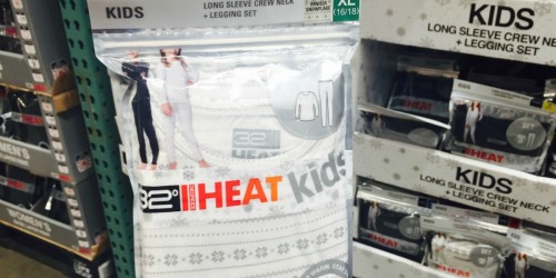 32 Degrees Heat Kids Base Layer Set Just $7.99 Shipped on Costco.com