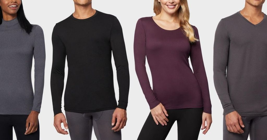 Two women and Two Men wearing 32 Degrees Base Layers