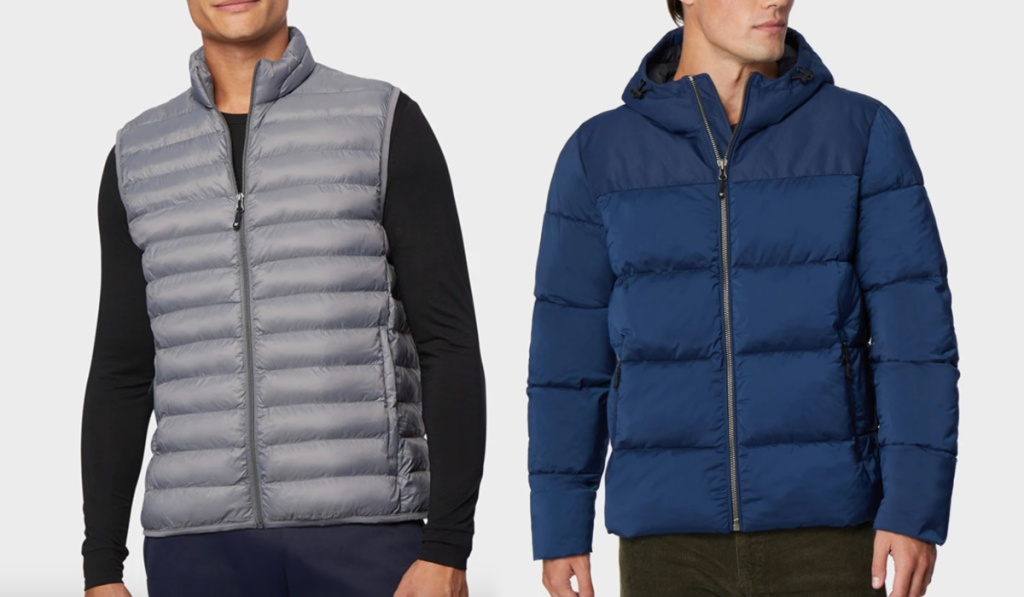 32 degrees mens outerwear puffer vest and jacket
