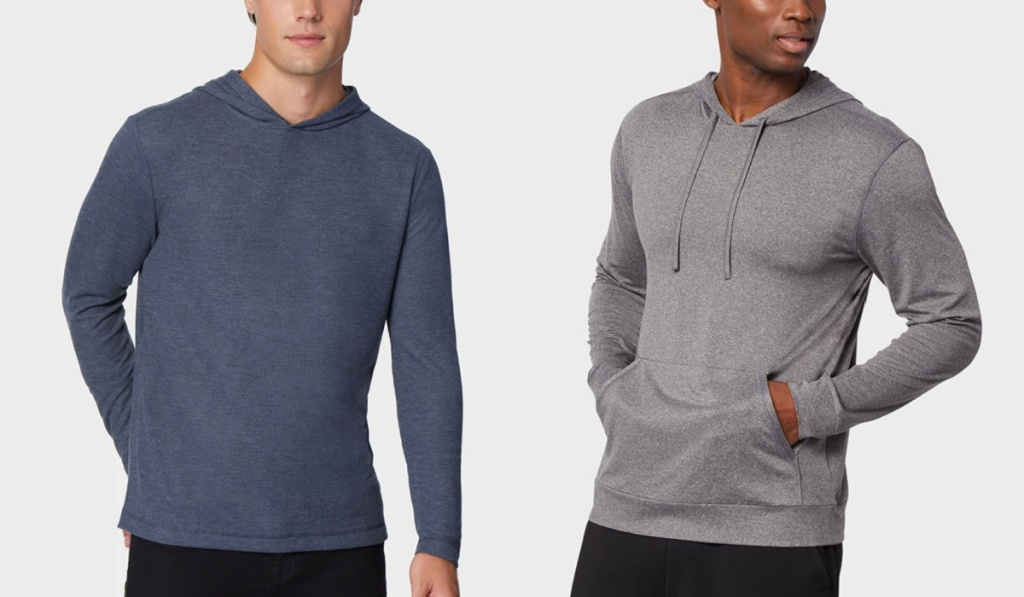 32 degrees mens sweathsirts navy and gray