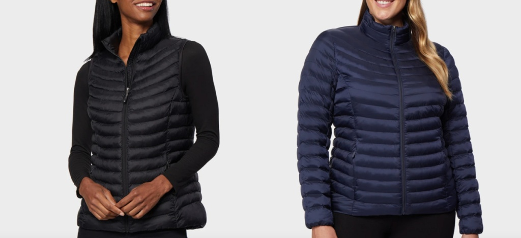 32 degrees womens outerwear puffer vest and jacket