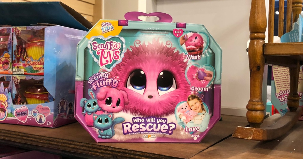 little live scruffy pets box on store shelf