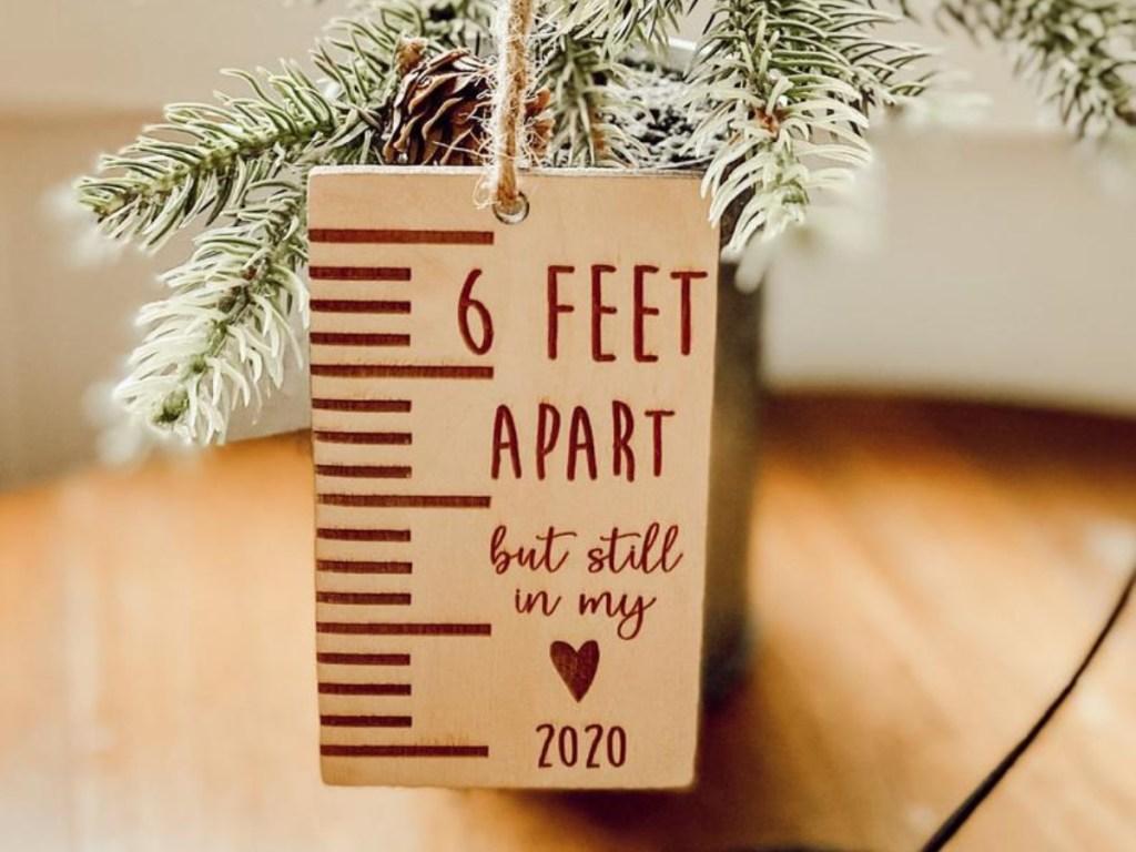 6 feet apart ornament