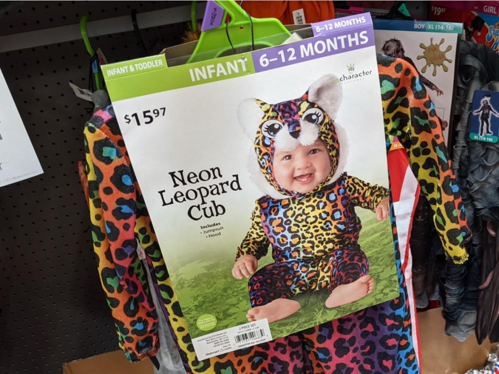 neon leopard infant halloween costume at walmart