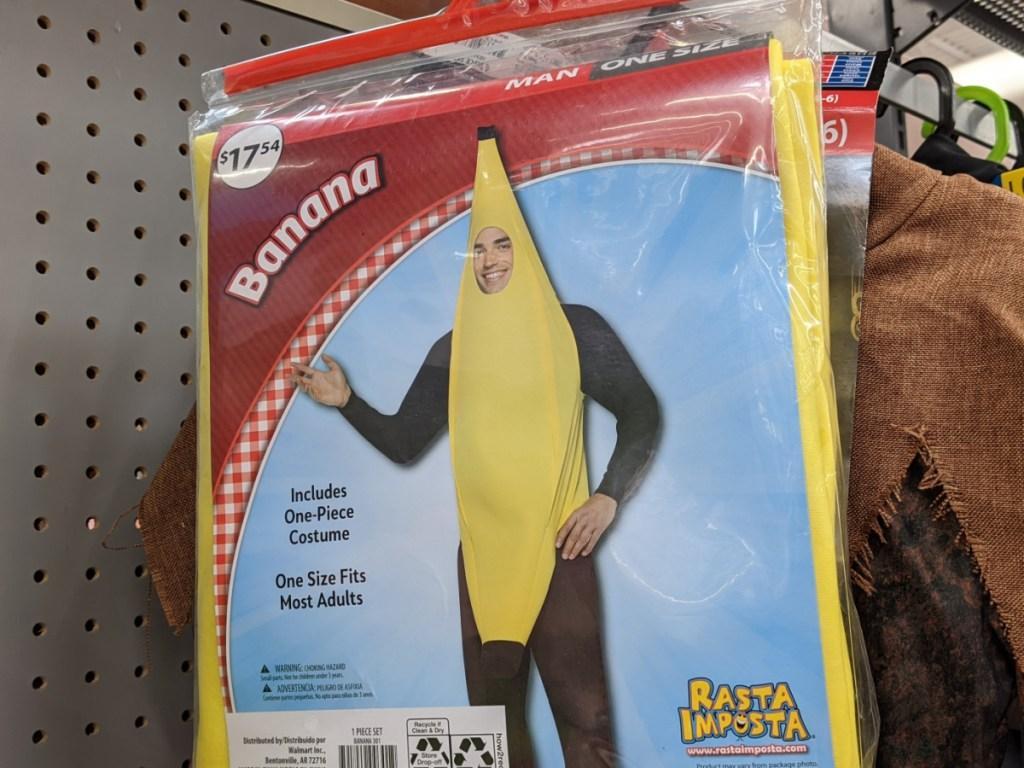 adult banana costume in store at walmart