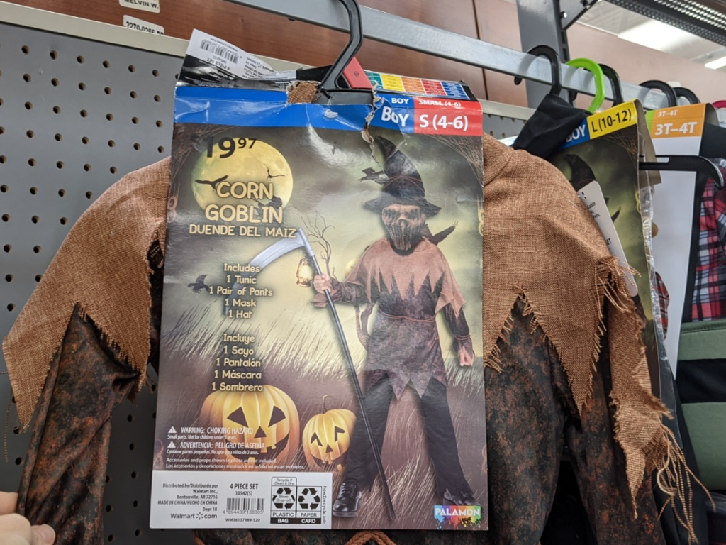 kids corn goblin halloween costume at walmart
