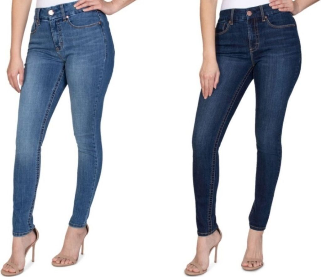 Two women wearing Jeans and heels