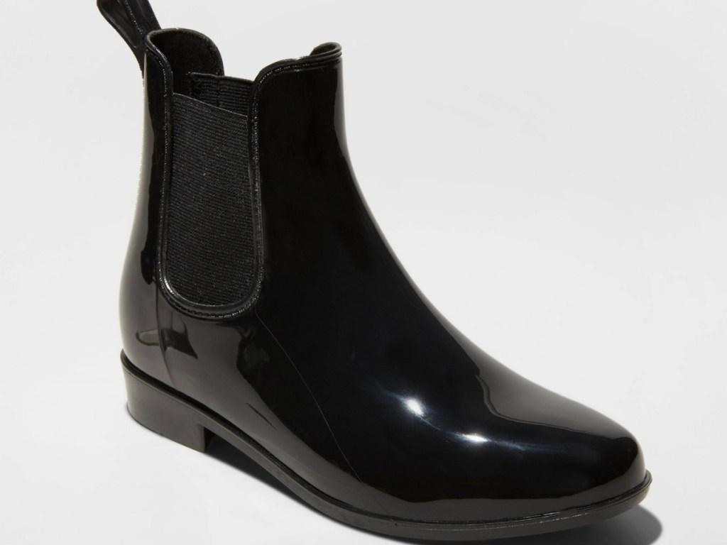 womens black rain boot