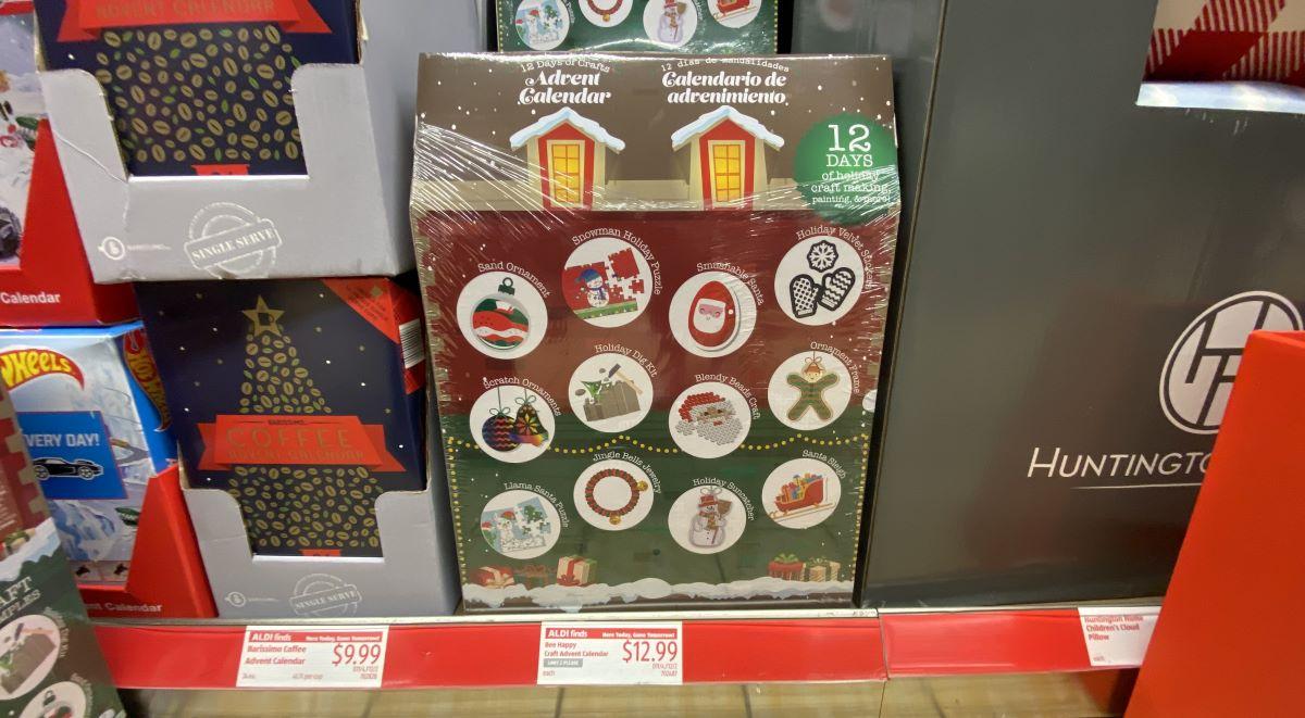 advent calendars on shelf at ALDI