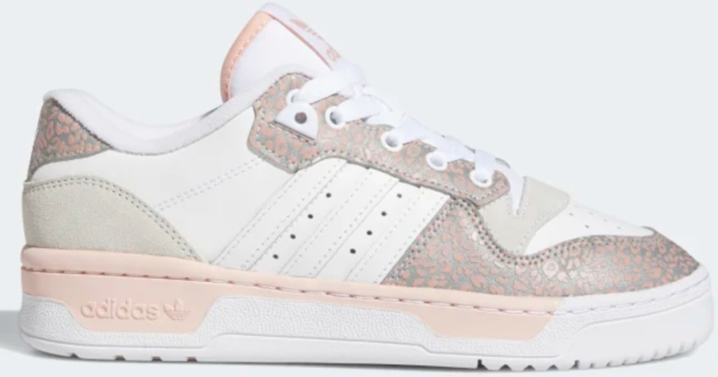 women's white and light pink adidas shoes