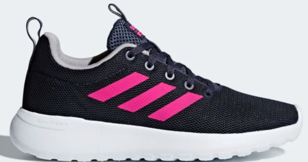 kids black and pink adidas running shoes
