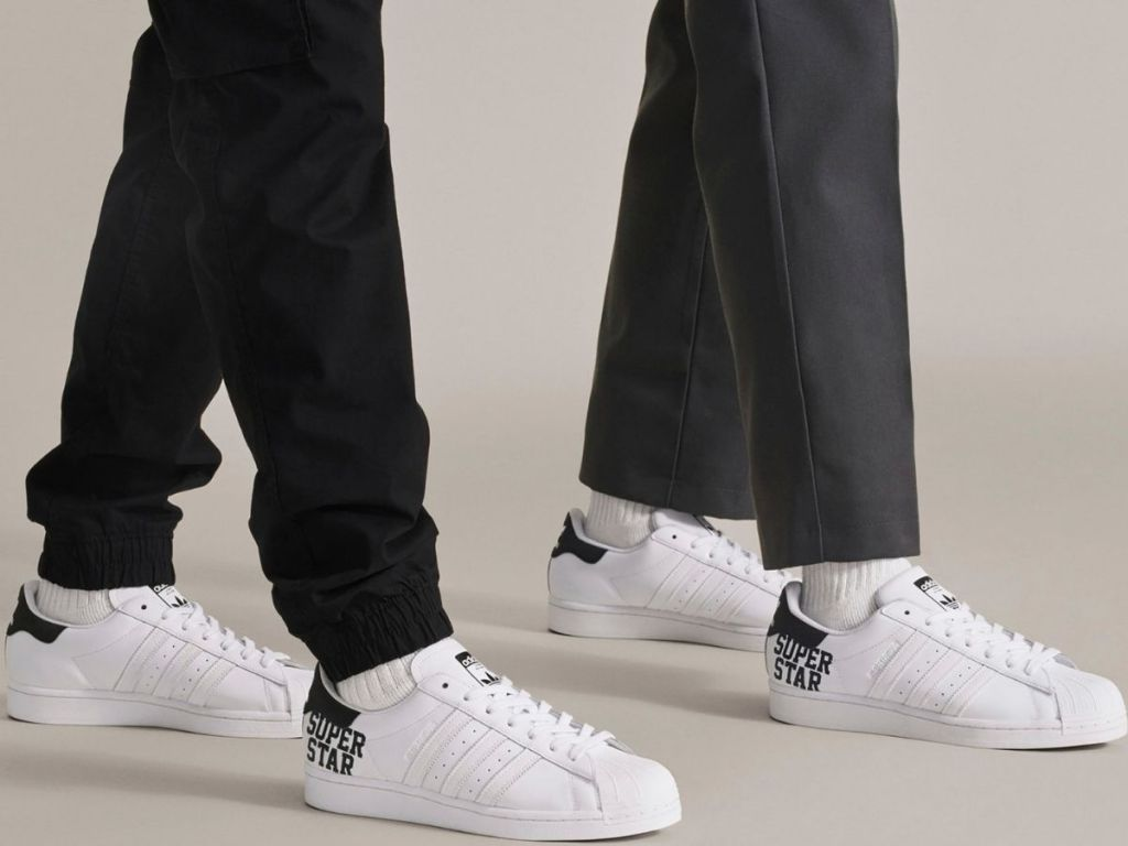 Two men Adidas Superstar Sneakers