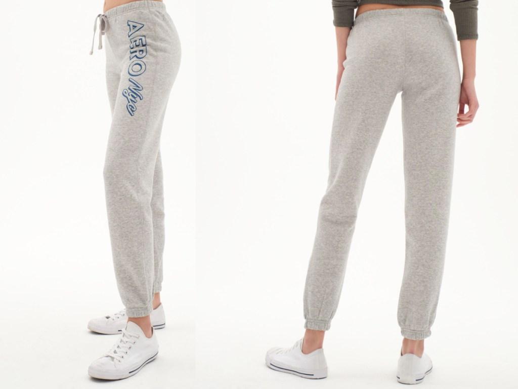 girl in gray sweatpants