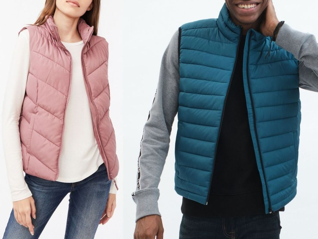 Aeropostale girls and Boys puffer vests