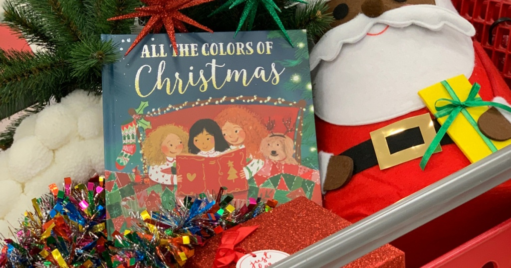 Christmas book, Santa toy, and more in store cart