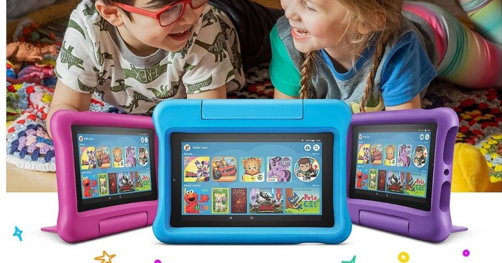 Amazon Kids Fire 7 with boy and girl