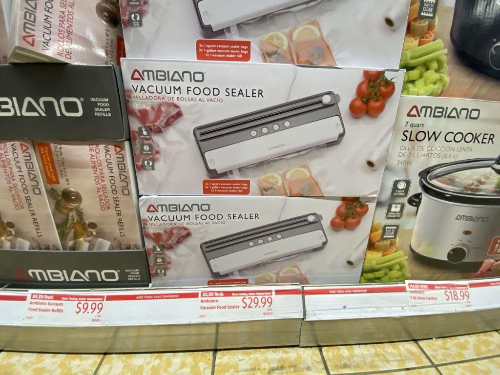 food sealers on shelf at ALDI
