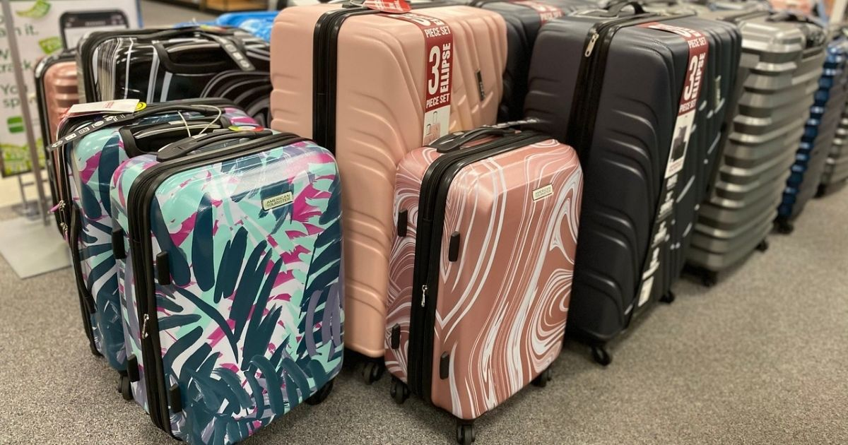 American Tourister Hardside Luggage on display in store