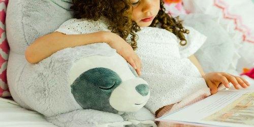 Kids Fuzzy Backrest Pillows Just $30.59 on Kohls.com (Regularly $135) | Sloth, Dinosaur, & More