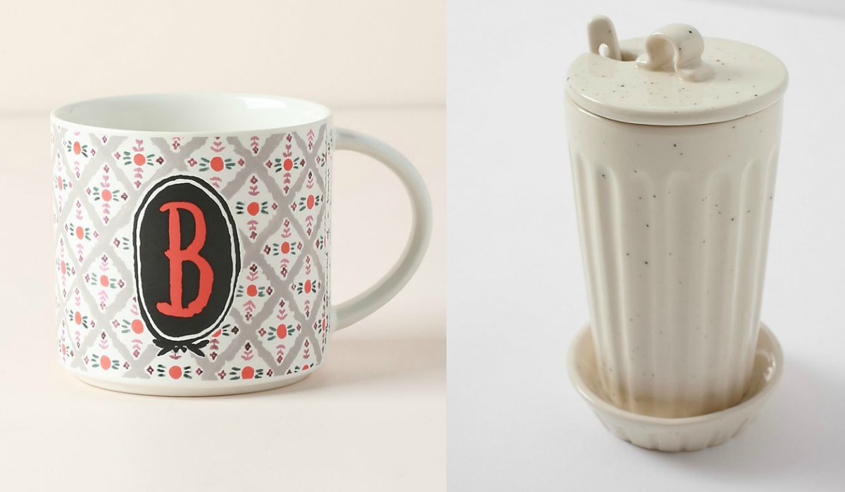 Anthropologie mug and canister