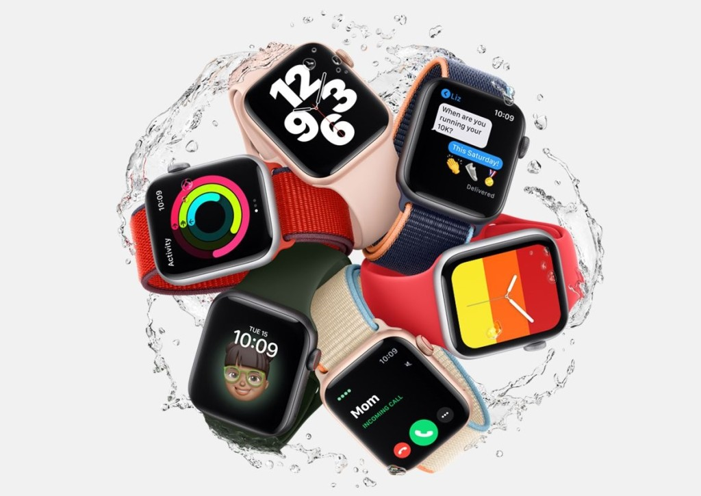 group of Apple Watches