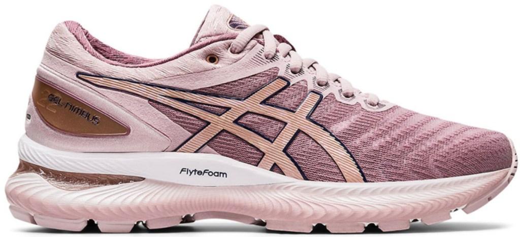 women's pink asics gel nimbus running shoe