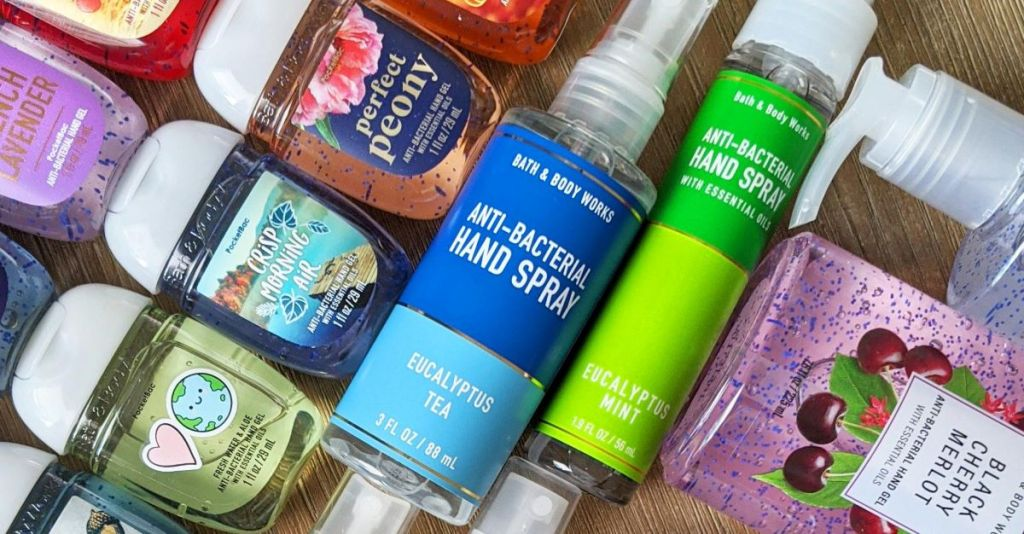 group of Bath & Body Works hand sanitizers