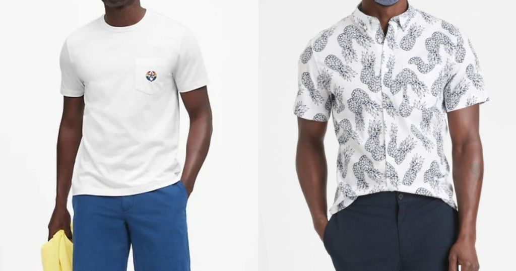 two men modeling shirts