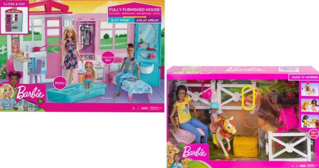 Barbie House and Barn playsets
