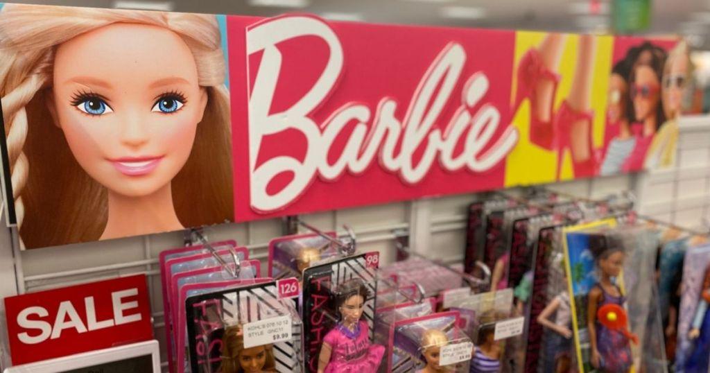 Barbie sign above barbie's at Kohl's