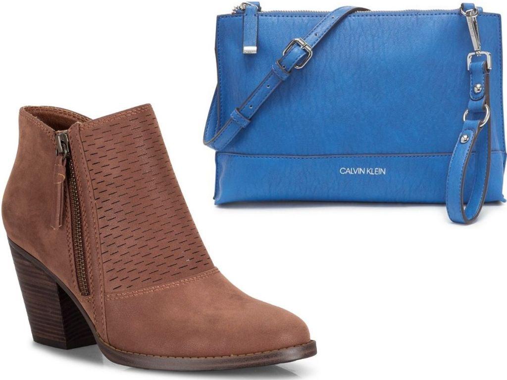 Baretraps womens Booties and Calvin Klein Blue Purse