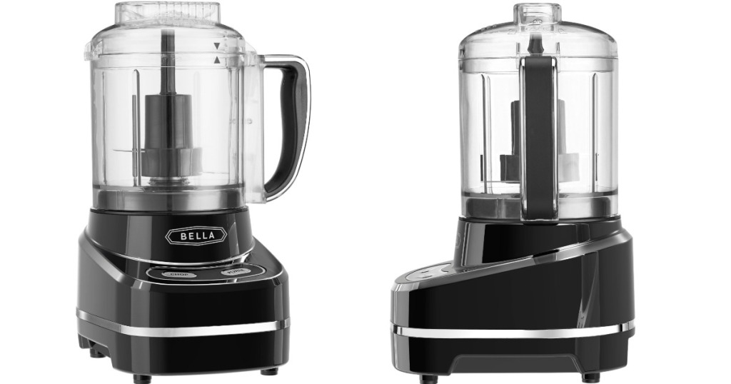 bella food processor at two different angles