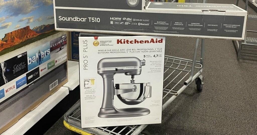 Kitchen Aid on Cart