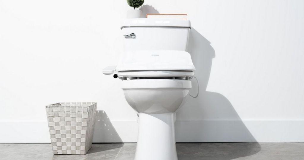 _Bio Bidet Electric Seat in white bathroom