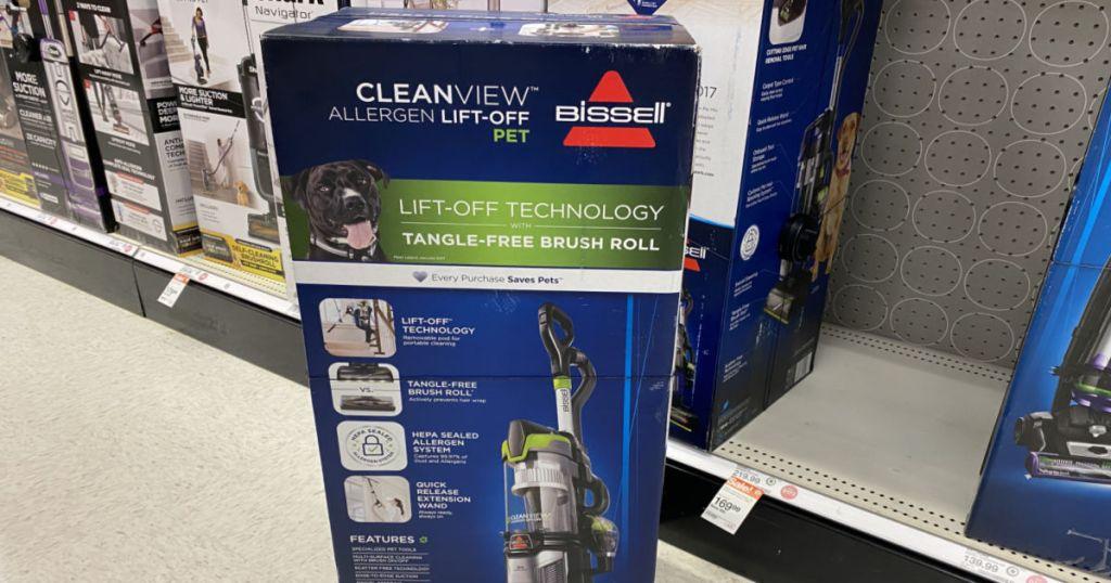 vacuum in aisle