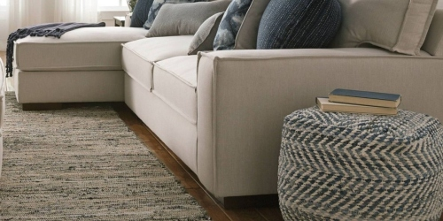 *HOT* Up to 70% Off Furniture on Target.com = Ashley Chevron Pouf $67 Shipped (Regularly $120)