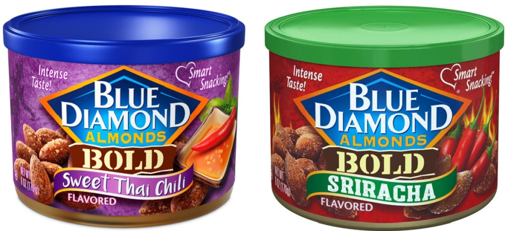 2 blue diamond almonds cans