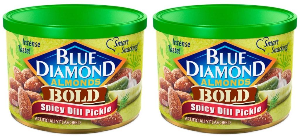 2 blue diamond almond cans