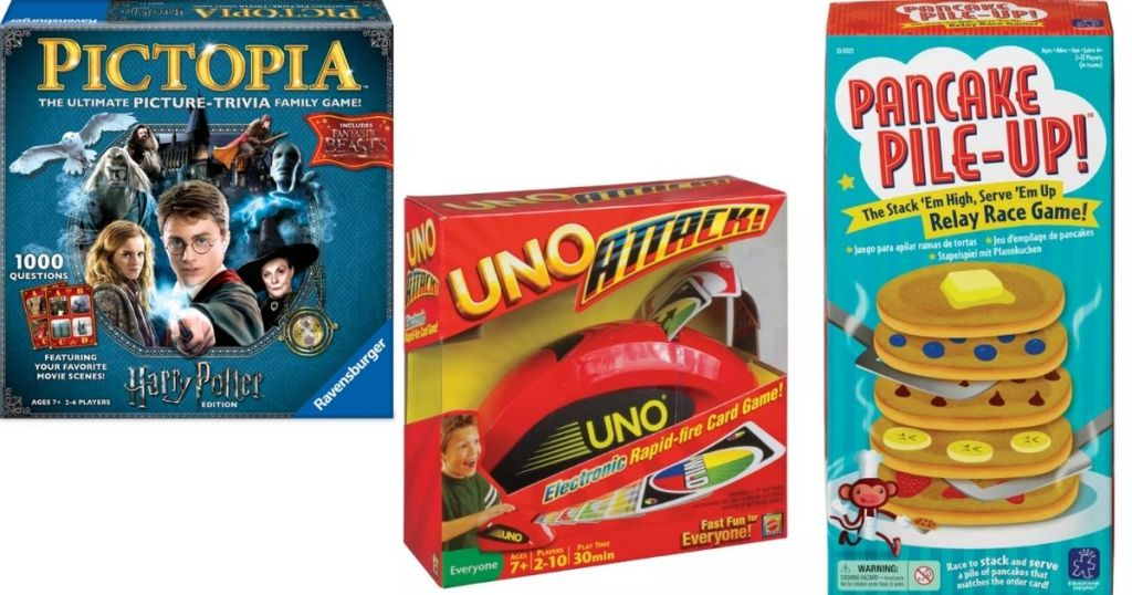 harry potter, uno and pancake pile-up games