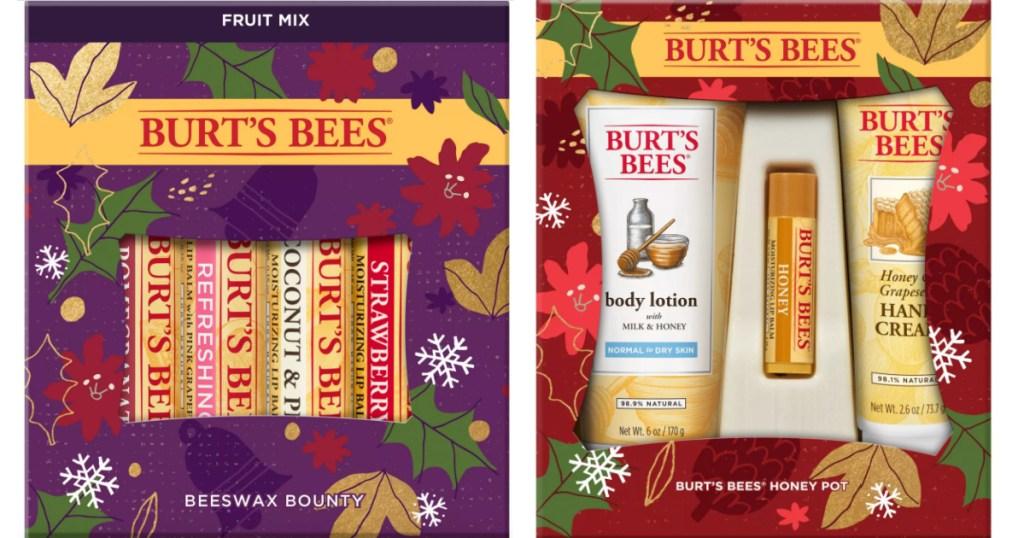 2 burt's bees holiday gift sets