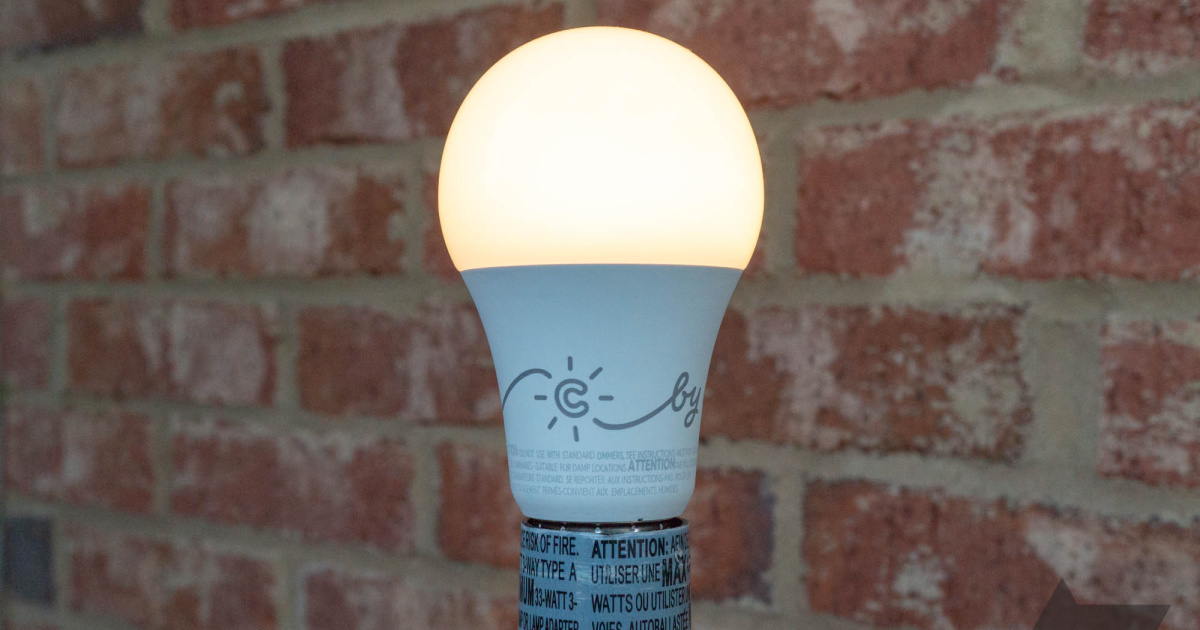 light bulb in front of a brick wall