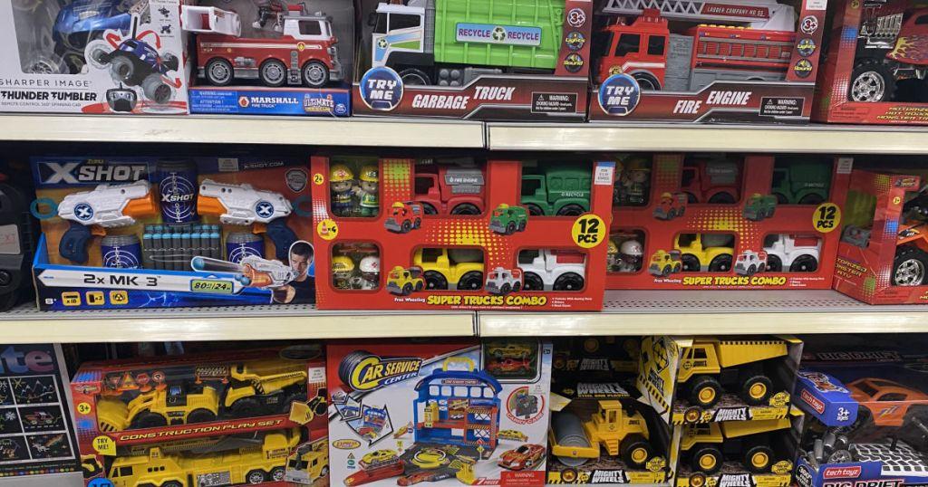 kids toys on shelf