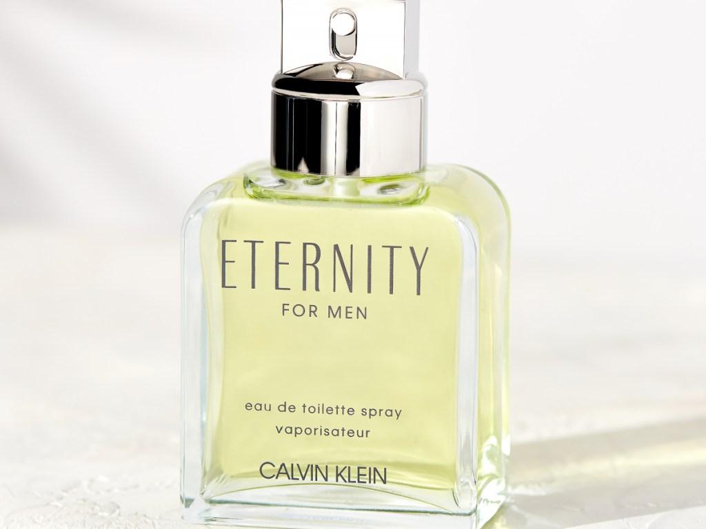 bottle of Calvin Klein Eternity Cologne