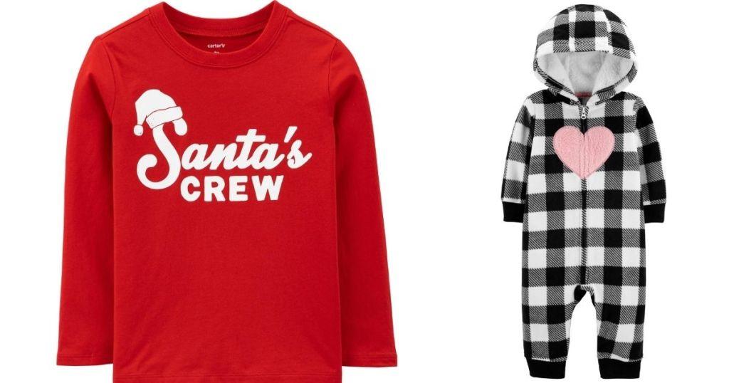 Santa's crew shirt and romper